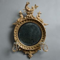 A Fine Early Century Convex Mirror - Timothy Langston Fine Art & Antiques Antique Frames, Old Frames, Oriental Furniture, Antique Furniture, Convex Mirror, Mirror Mirror, Mirror Photo Frames, Mirror Plates, Old Mirrors