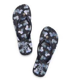 THIN PRINTED FLIP-FLOP - TORY NAVY-PRIMULA E