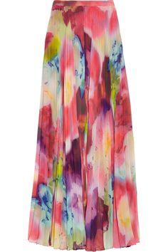 ALICE + OLIVIA  Shannon printed chiffon maxi skirt