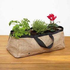 triple jardini re suspendue en toile de jute marron pour balcon chocolat noir plantation. Black Bedroom Furniture Sets. Home Design Ideas