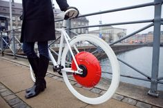 The Copenhagen City Wheel turns any regular bicycle into a hybrid. It was developed at MIT and is nominated for the Dyson Award.