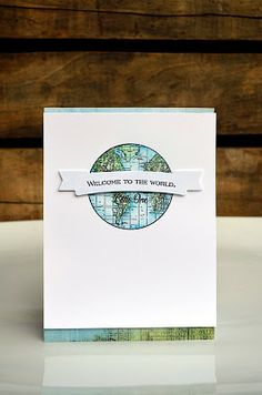 welcome to the world - baby card