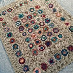 Amazing granny square blanket