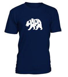 Mens Papa Bear - Dad Shirt - For Father and Daddy  #bride #groom #wedding #WeddingAnniversary
