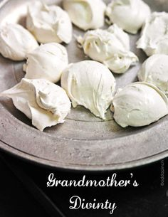 Grandma's Divinity Recipe via Add A Pinch - what Christmas Gift Plate or Holiday Goodies Treat bag is complete without this yummy candy? #chrstmascookies #christmascandy #christmastreats #holidaydesserts #holidayrecipes #christmascandies #holidaygiftplates