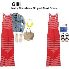 Natty Racerback Striped Maxi Dress