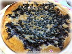 Pullantuoksuinen koti: The Most Delicious Mustikkapannari - Blueberry pancake