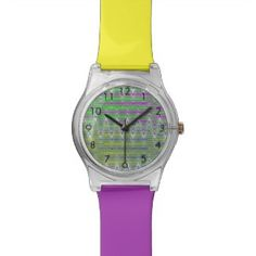Fun fashion watch in bright colors #zazzle #watches #gifts #jewelry