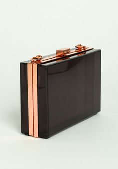 Black Transparent clutch