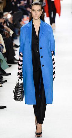 Christian Dior fall winter 2014 2015: black blue soft color