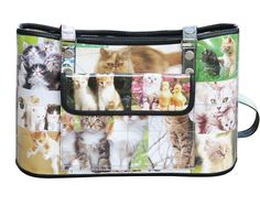 Handbag for cat lovers Free standard shipping Upcycling by Milo ** Read more details by clicking on the image. Blue Jean Purses, 1st Wedding Anniversary Gift, Kitten Images, Recycled Gifts, Eco Friendly Bags, Handmade Handbags, Large Handbags, Sewing Basics, Large Bags