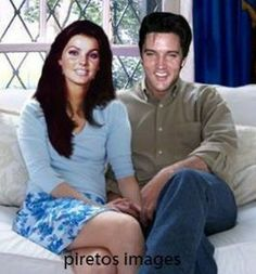 Piretos created image always = FAKE.Not Elvis Presley's arms; Elvis and Priscilla's heads photoshopped onto bodies of two other people Lisa Marie Presley, Priscilla Presley, Mississippi, Elvis Presley Images, Tennessee, Young Elvis, Hollywood Couples, You're Hot, Fake Photo