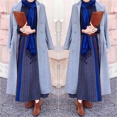 Hijab chic 2017 : 32 Belles idées de look de hijb pratiques à porter tous les jours - astuces hijab Islamic Fashion, Muslim Fashion, Modest Fashion, Girl Fashion, Fashion Design, Hijab Chic, Hijab Style, Hijab Dress, Hijab Outfit
