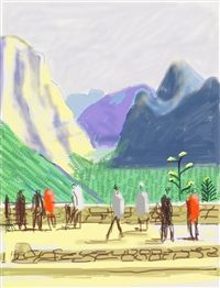"""Untitled No. 15"" from ""The Yosemite Suite"" by David Hockney"