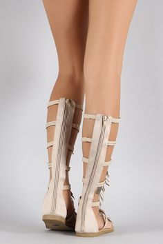 3cac98fea87a Description These trendy sandals feature a strappy construction with studs  embellishment