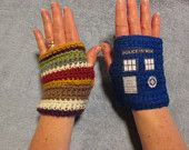 Baker Tardis fingerless gloves