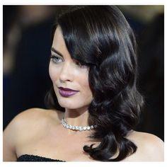 Margot Robbie rich dark hair