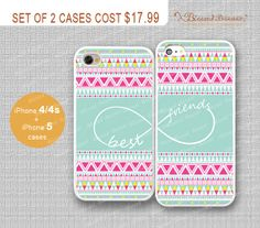 Best friends, infinity and Aztec iPhone 4/4s Case, iPhone 5 Case, iPhone Hard Plastic /Soft Rubber Case,Personalized iPhone Case,water proof on Etsy, $17.99