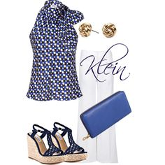 Navy and cobalt blue, created by stacy-klein on Polyvore