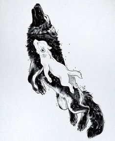 The wolf mother Mor lived with her daughter Awyr in the eastern plains. In the s… The wolf mother Mor lived with her daughter Awyr in the eastern plains. In the sun they travelled and played. In the moonlight Mor hunted… Wolf Tattoos, Animal Drawings, Cute Drawings, Wolf Drawings, Cool Tattoo Drawings, Horse Drawings, Pencil Drawings, Fantasy Kunst, Fantasy Art