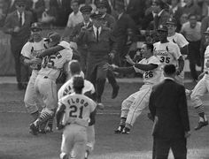 October 15, 1964. Cards Celebrate World Series Championship. Sportsman's Park, St. Louis.