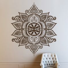 Mandala Design Bohemian Indian Pattern Floral Wall by DecalHouse