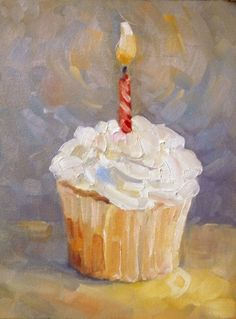 Deb Kirkeeide  Happy birthday, Happy New Year daily painting  painting by artist Deb Kirkeeide