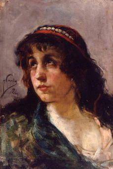 Joaquín Sorolla - Retrato de Gitana, 1884 - Sant Telmo Museoa, San Sebastián