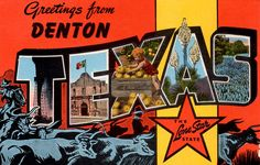 An amazing collection of vintage postcards of Denton TX by local historian Mike Cochran.