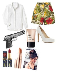 """Untitled #83"" by kekebedaone on Polyvore featuring Miguelina, Lacoste, Jessica Simpson, Estée Lauder and Charlotte Russe"