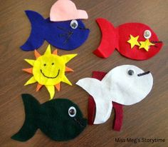 Flannel Friday: One Fish, Two Fish Flannel Board Stories, Felt Board Stories, Felt Stories, Flannel Boards, Quiet Book Templates, One Fish Two Fish, Flannel Friday, Under The Sea Theme, Finger Plays