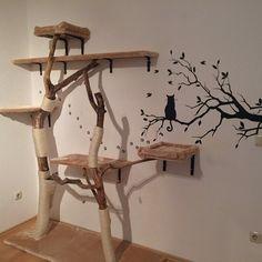 kratzbaum selber bauen 67 ideen und bauanleitungen wohnen pinterest. Black Bedroom Furniture Sets. Home Design Ideas