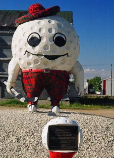 Gilbert Plains • South Australia • big golf man • the big golf ball