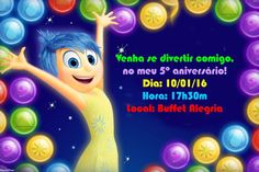 Convite digital personalizado Divertida Mente 04