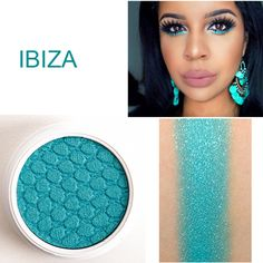 COLOURPOP EYESHADOW Makeup Pigment Matte Metallic Glitter Color: IBIZA turquoise