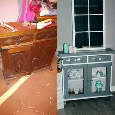Antes y después de un mueble antiguo. Before and after. Chalckpaint. Restaurar