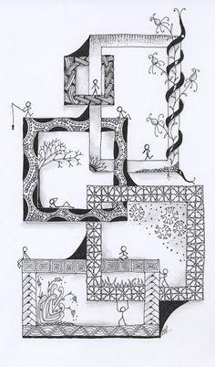 Penstrokes: frames/borders doodled