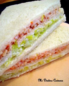 Sandwiches de Miga Triples                                                                                                                                                                                 Más