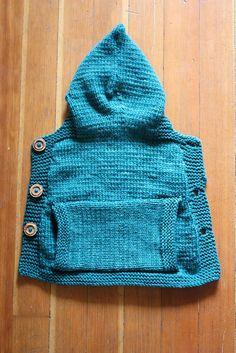 Knitted Baby Sling Hoodie --