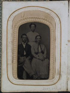 Title:    Portrait of a man and two women    Caption:     Portrait of a man and two women     ID Number:     2007.0292.10    This material may not be reproduced without prior written permission of The Historic New Orleans Collection