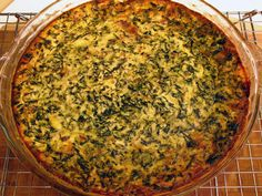 Spinach and Smoked Gouda Crustless Quiche from FoodNetwork.com- my favorite spinach quiche recipe.