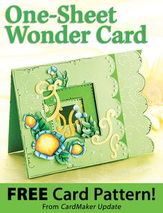One-Sheet Wonder Card Download from CardMaker newsletter. Click on the photo to access the free pattern. Sign up for this free newsletter here: AnniesEmailUpdates.com.