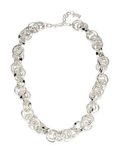Robert Lee Morris Soho Cool As Ice Multi-Circle Link Necklace Women's