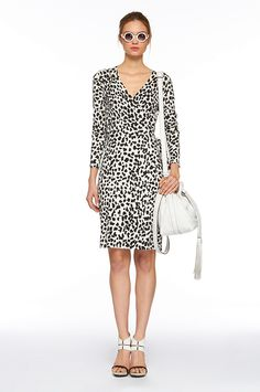 Leopard wrap dress, DVF