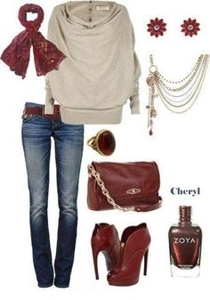 Fall outfit inspiration featuring Zoya Nail Polish in Cheryl