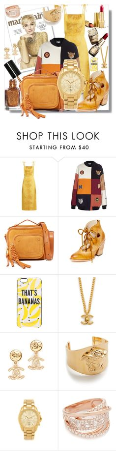 """""""Fashion in Gold & Yellow!!"""" by stylediva20 ❤ liked on Polyvore featuring STELLA McCARTNEY, See by Chloé, Steven by Steve Madden, Kate Spade, Versace, Michael Kors and Shay"""