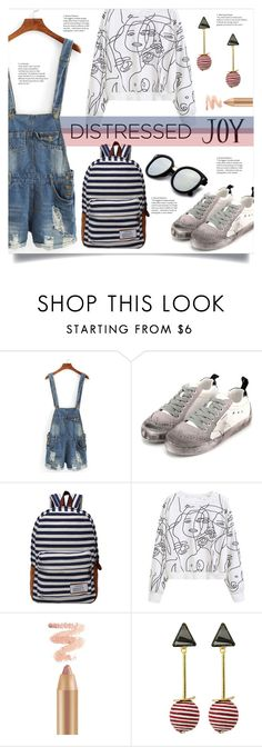"""True Blue: Distressed Denim"" by mahafromkailash ❤ liked on Polyvore featuring WithChic and distresseddenim"