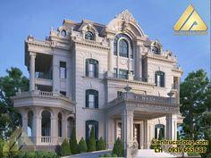Neoclassical Architecture, Classic Architecture, Modern Architecture House, Facade Architecture, Classic House Design, Modern House Design, Villa Design, Facade Design, Villas