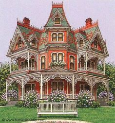 Coolest Victorian House Colors Ideas, Choosing for Your Home or Office Colors are somewhat more neutral and have a tendency to remain at the very same saturation level. Whether you opt to choose historically accurate colo. Victorian Architecture, Beautiful Architecture, Beautiful Buildings, Beautiful Homes, Lego Architecture, Architecture Portfolio, Victorian Style Homes, Victorian Decor, Casas The Sims 4