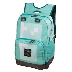 JINX Minecraft Diamond Kids School Backpack, Blue, >>> You can find out more details at the link of the image. (This is an affiliate link) Jansport Superbreak Backpack, Rucksack Backpack, Girl Backpacks, School Backpacks, Minecraft Toys, American Girl Wellie Wishers, Computer Bags, Kids Bags, Creepers